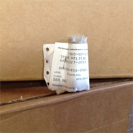 SPRING HELICAL, FOR F-15 AIRCRAFT, NS/NOS, FACTORY PACKED