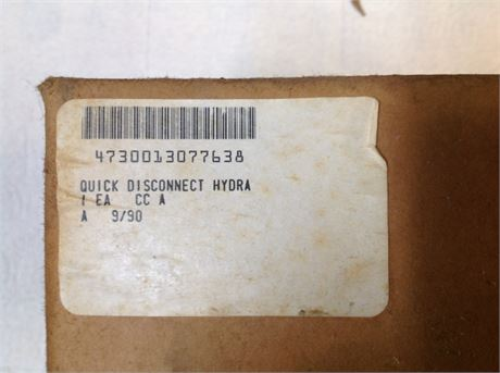 QUICK DISCONNECT COUPLING, HYDRAULIC, FOR M1 COMBAT TANK, UNUSED, FACTORY PACKED