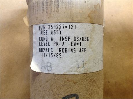 TUBE ASSY FOR C-130 AIRCRAFT, CC A, PACKED