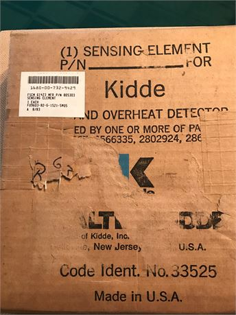 SENSING ELEMENT/OVERHEAT DETECTOR, NS/NOS, FACTORY PACKED