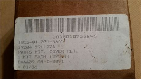 PARTS KIT, COVER, RET. TANK COMBAT, NS/NOS, FACTORY PACKED